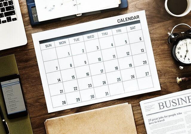 calendrier de publication