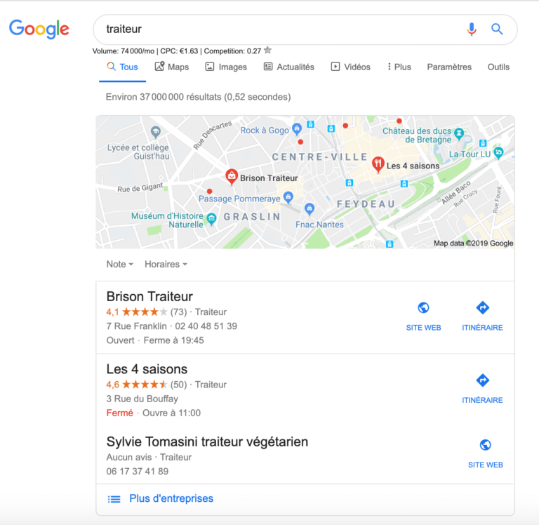 Google pigeon pack local