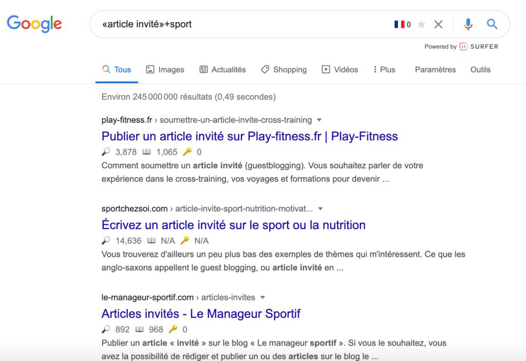 résultats de recherche article invités sport